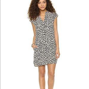 Madewell leopard print shift dress size xs